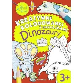 Kreatywne kolorowanki. Dinozaury