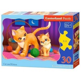 Puzzle 30 Cat and Kitten CASTOR