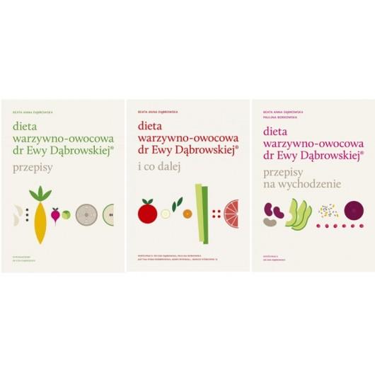 ZESTAW 3x: Dieta warzywno-owocowa dr Ewy Dąbrowskiej