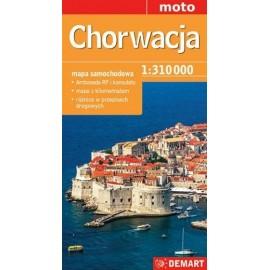 Chorwacja- mapa samochodowa