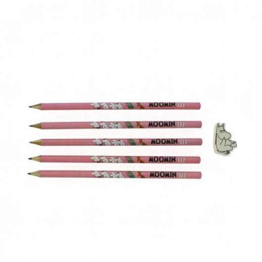 Muminki zestaw ołówków