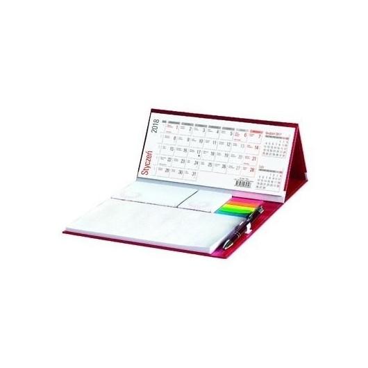 Kalendarz 2018 Biurkowy Stojący z długopisem
