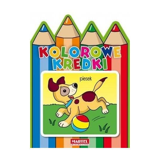Kolorowe kredki - Pieski