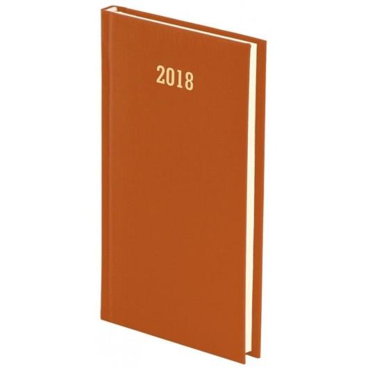 Kalendarz 2018 A6 tygodniowy Albit. Czerwony 1232