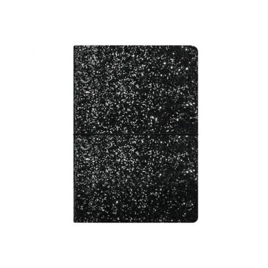 Notes A5/96K czarny brokat