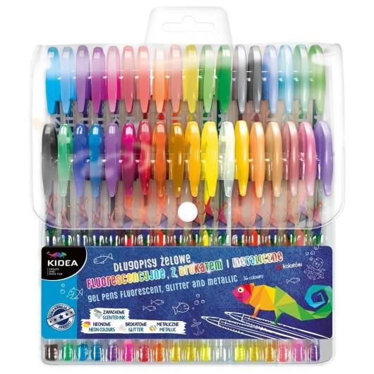 Długopisy żelowe 36 kolory KIDEA