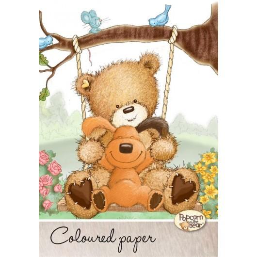 Papier kolorowy A4/20K Popcorn Bear