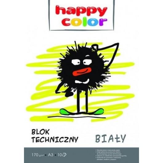 Blok techniczny A3/10K HAPPY COLOR