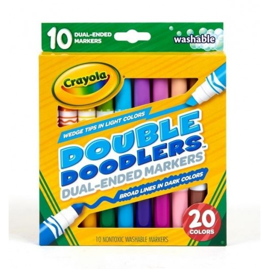 Markery dwustronne 10 kolorów CRAYOLA
