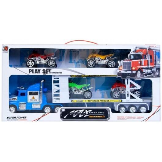 Auto ciężarowe laweta z akcesoriami