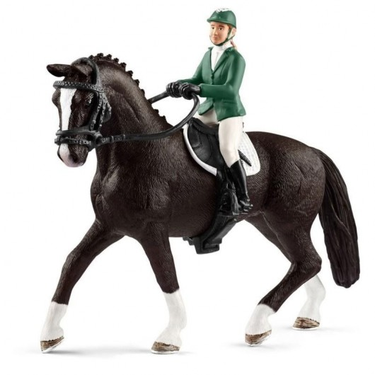 Jeździec pokazowy z koniem
