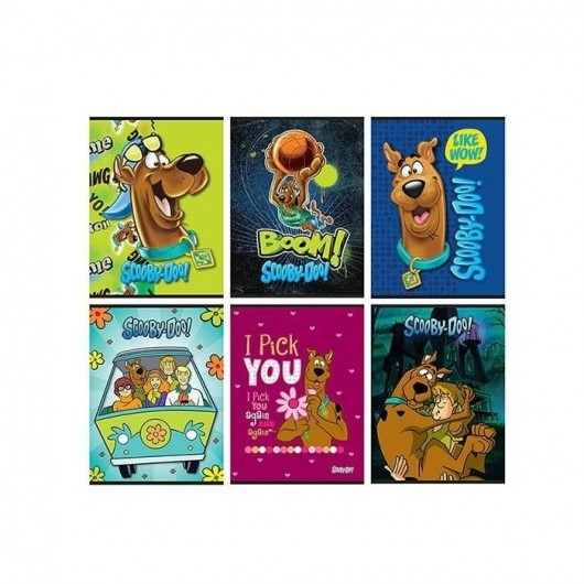 Zeszyt A5/54K kratka Scooby Doo (10szt)