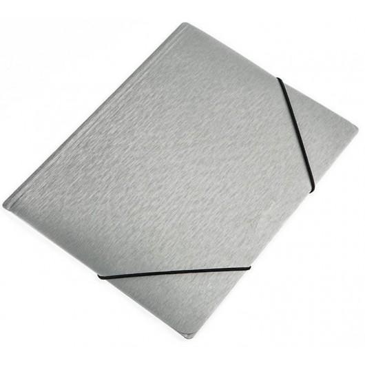 Teczka na gumkę A4 Focus Simple srebrna