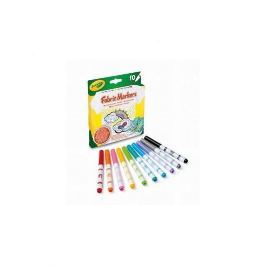 Markery do tkanin 10 kolorów CRAYOLA