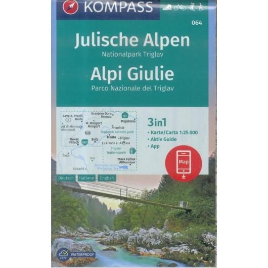 Julische Alpen/Alpi Giulie 1:50 000 Kompass