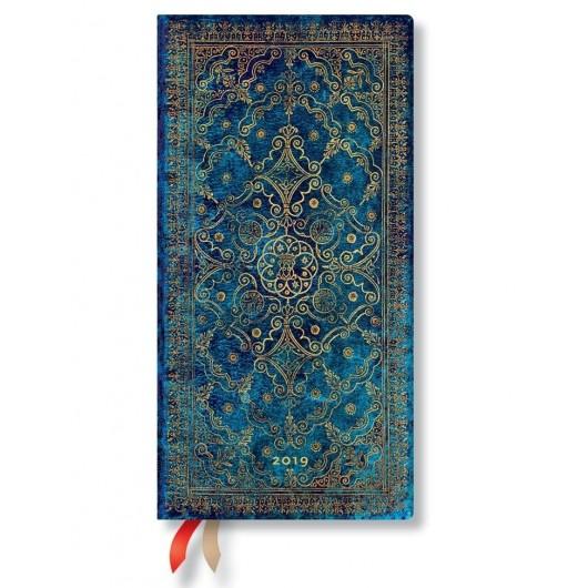Kalendarz książkowy slim 2019 12M Azure