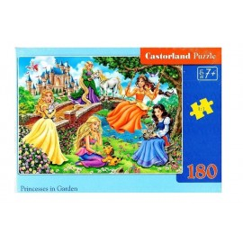 Puzzle 180 Princesses in Garden CASTOR