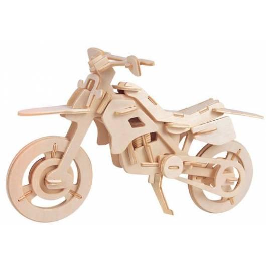 Łamigłówka drewniana Gepetto - Motor crossowy (Cross cycle)