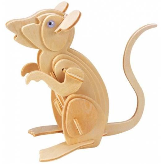 Łamigłówka drewniana Gepetto - Mysz (Mouse)