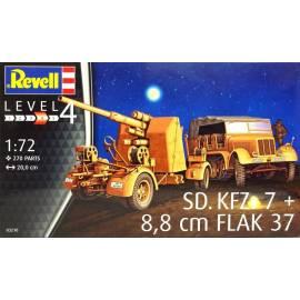 REVELL 1:72 Sd.Kfz. 7 & 8,8 cm Flak 37 (03210)