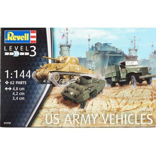 REVELL 1:144 US Army Vehicles WW II (03350)