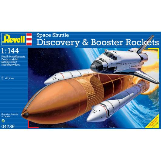REVELL 1:144 Space Shuttle Discovery & Booster Rockets (04736)