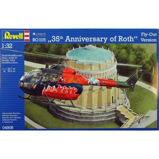 REVELL 1:32 Bo-105 35 th Anniversary of Roth Fly - Out Version (04906)