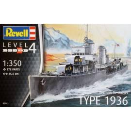 REVELL 1:350 German Destroyer Type 1936 (05141)