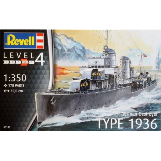 REVELL 1:350 German Destroyer Type 1936 (05141)
