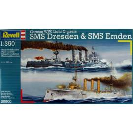 REVELL 1:350 German WWI Cruisers SMS Dresden & SMS Emden (05500)