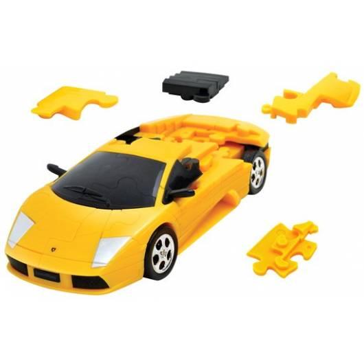 Puzzle samochód 3D CARS - Lamborghini Murcielago (żółty) - poziom 4/4