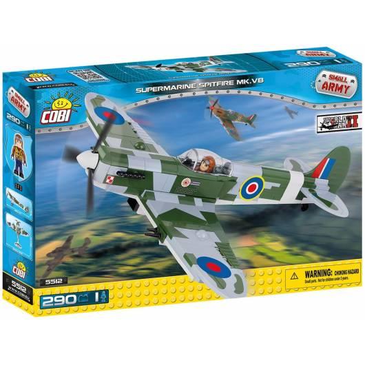 COBI Supermarine Spitfire Mk VB - myśliwiec brytyjski 290 el. (5512)