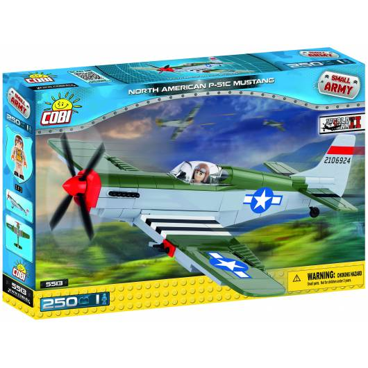 COBI North American P-51C Mustang - myśliwiec amerykański 250 el. (5513)