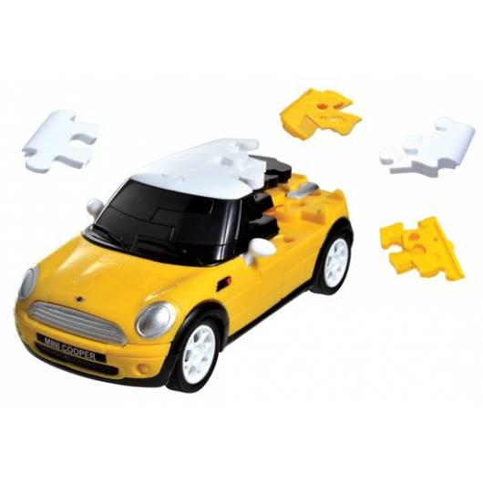 Puzzle samochód 3D CARS - Mini Cooper - poziom 4/4