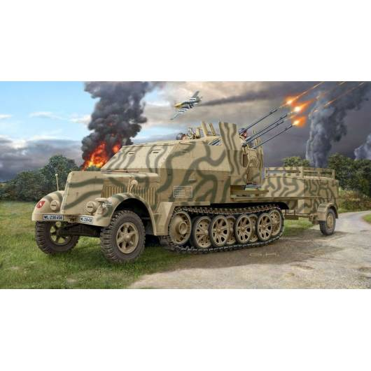 REVELL 1:72 Sd.Kfz. 7/1 – niemieckie samobieżne działo przeciwlotnicze (03195)