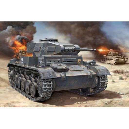 REVELL 1:72 PzKpfw II Ausf. F - niemiecki czołg lekki (03229)