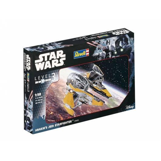 REVELL 1:58 Anakin's Jedi Starfighter - lekki myśliwiec z fantastyki Star Wars (03606)