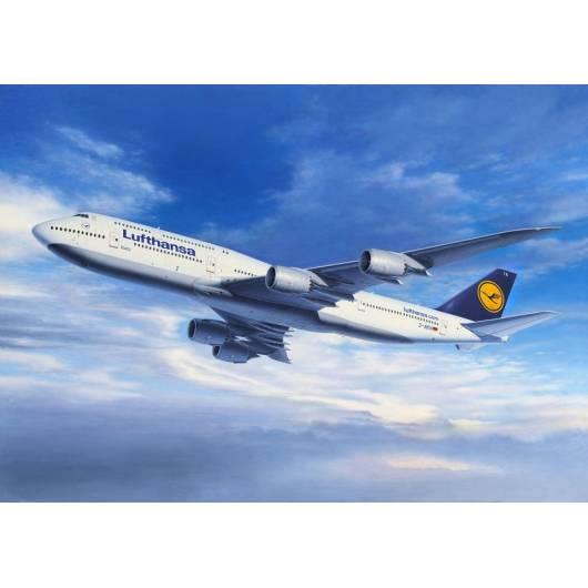 REVELL 1:144 Boeing 747-8 - szerokokadłubowy samolot pasażerski dalekiego zasięgu (04275)