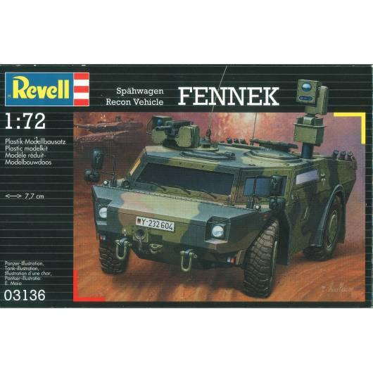REVELL 1:72 Recon Vehicle Fennek - czterokołowy bojowy wóz rozpoznawczy (03136)