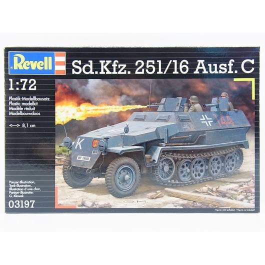 REVELL 1:72 Sd.KFZ. 251/16 Ausf.C - niemiecki transporter opancerzony (03197)