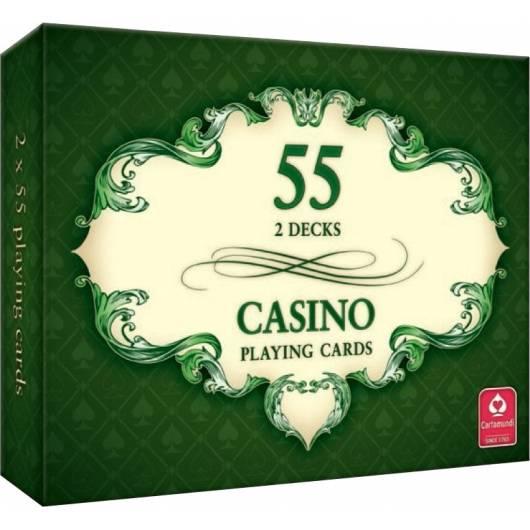 CASINO - karty do gry 2 x 55 kart Cartamundi