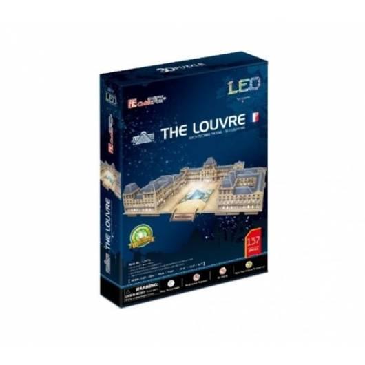 PUZZLE 3D Palac Luwr LED (137 el.)