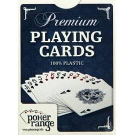 Karty pokerowe Premium 100% plastik (czerwone)