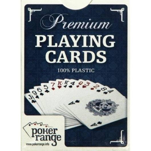 Karty pokerowe Premium 100% plastik (niebieskie)