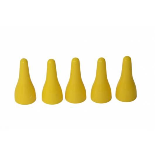 Pionki do gry plastik zwykłe - żółte - 100 szt.