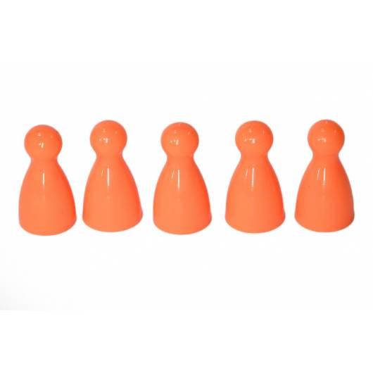 Pionki do gry z główką - pomarańczowe - 5 sztuk