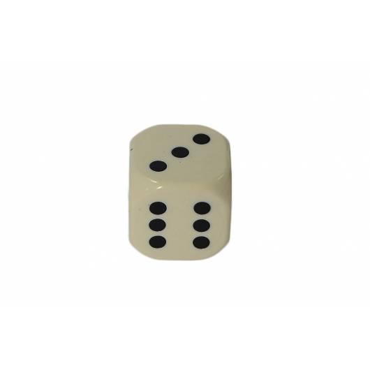 Kostka do gry plastik ekstra - kość słoniowa - 100 szt.
