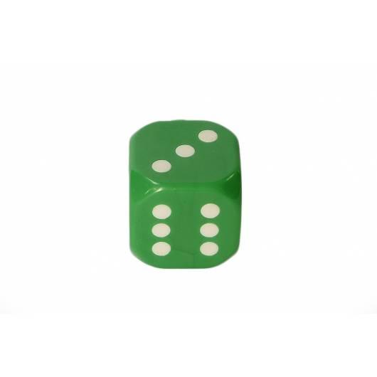 Kostka do gry plastik ekstra - zielona - 100 szt.
