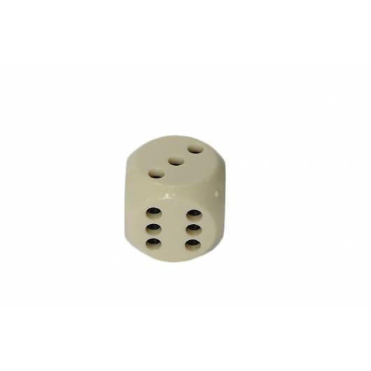 Kostka do gry z dziurkami - K6 - biała