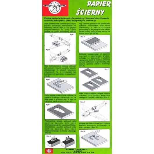 Wamod - papier ścierny (2x600, 2x800, 2x1000)